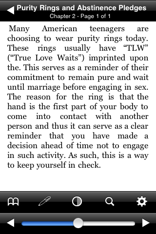 Purity Rings and Abstinence Pledges screenshot #2