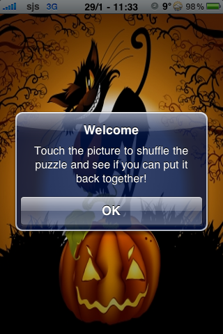 Scary Cat Slide Puzzle screenshot #3