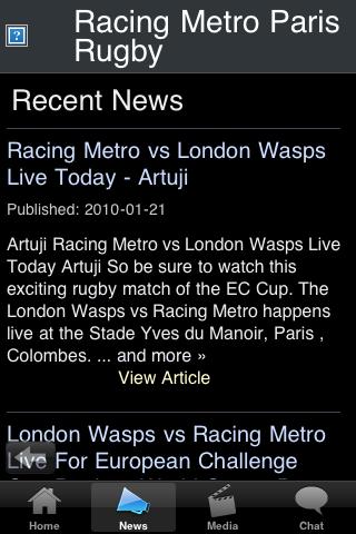 Rugby Fans - Racing Metro Paris screenshot #3