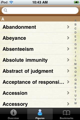 Legal Terms Glossary Book screenshot #2