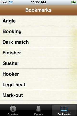 Pro Wrestling Terms Pocket Book screenshot #5