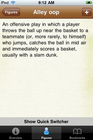 Basketball Terminology screenshot #2