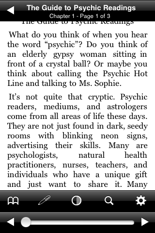 The Guide to Psychic Readings screenshot #2