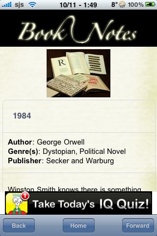 Book Notes - 1984 screenshot #3