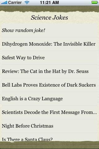 Science Jokes screenshot #3