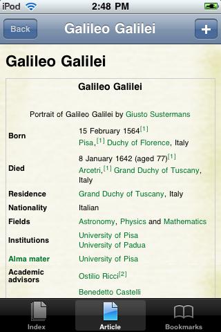 Galileo Galilei Study Guide screenshot #1