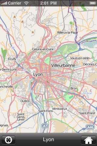 iMapsPro - Lyon screenshot #2