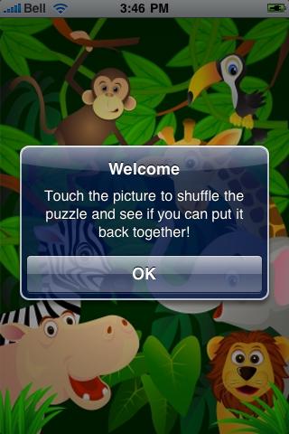 Jungle Animals Slide Puzzle screenshot #2
