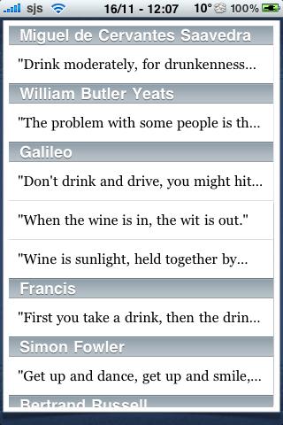Drinking Quotes screenshot #2