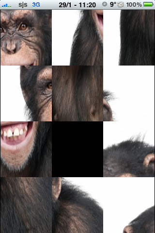 Happy Chimpanzee Slide Puzzle screenshot #2