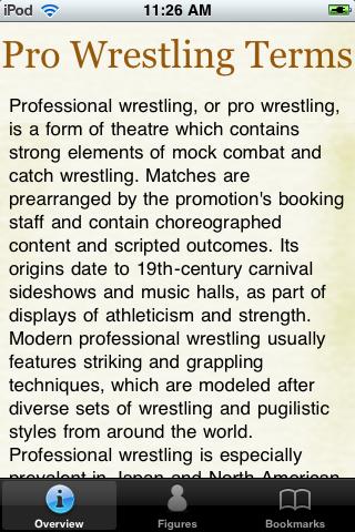 Pro Wrestling Terms Pocket Book screenshot #1