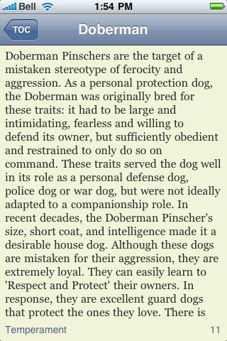The Doberman Pinscher Book screenshot #2