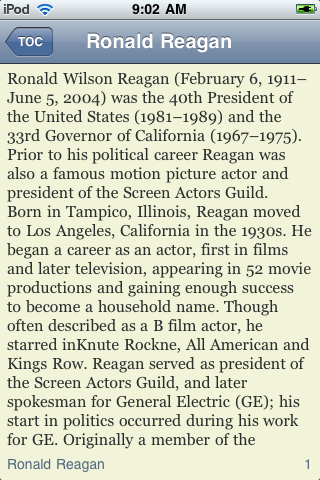 Ronald Reagan - Just the Facts screenshot #3