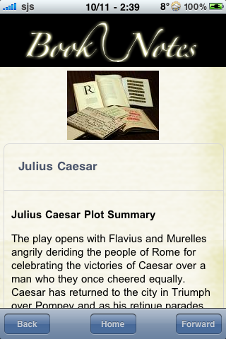Book Notes - Julius Caesar screenshot #3