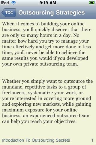 Outsourcing Strategies screenshot #3