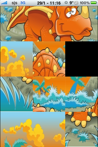 Dinosaur Slide Puzzle screenshot #2