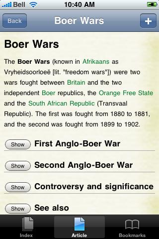 Boer Wars Study Guide screenshot #1