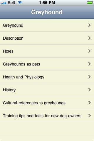 The Greyhound Book screenshot #1