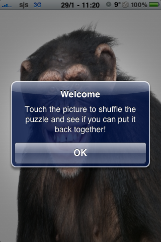 Happy Chimpanzee Slide Puzzle screenshot #3