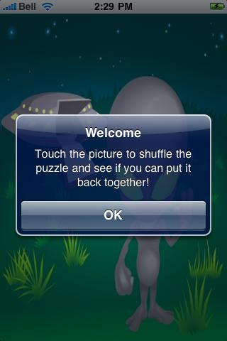 Alien Coming in Peace Slide Puzzle screenshot #2
