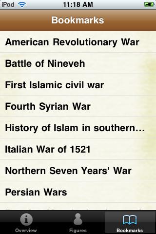 Historical Wars Pocket Book screenshot #4