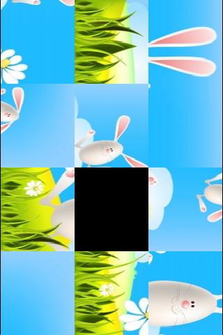 Easter Bunnies Slide Puzzle screenshot #2