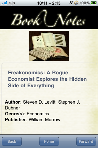 Book Notes - Freakonomics screenshot #3