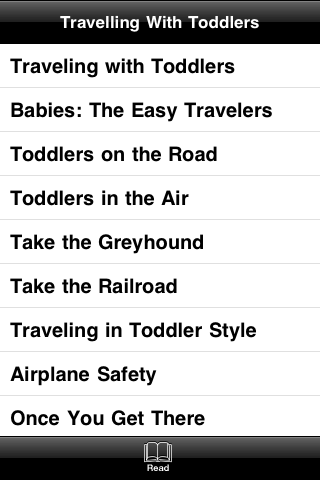 Travelling With Toddlers screenshot #4