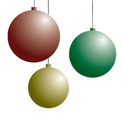 Christmas Bulbs Snow Globe