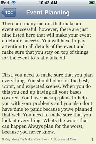Event Planning Guide screenshot #3