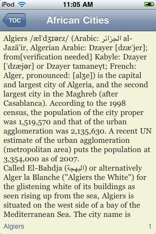 The Big Book of African Cities screenshot #2