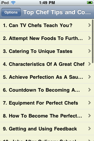 Top Chef Tips and Cooking Information screenshot #1