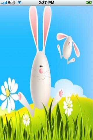 Easter Bunnies Snow Globe screenshot #1
