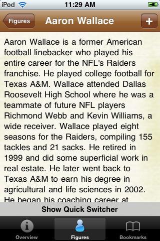 All Time Oakland Football Roster screenshot #2