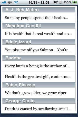 Health Quotes screenshot #1