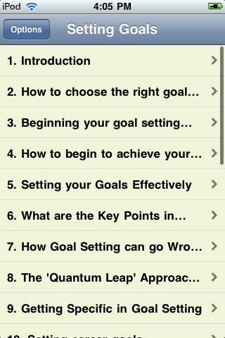 Setting Goals screenshot #2