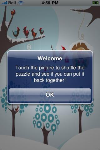 Winter Birds Slide Puzzle screenshot #2