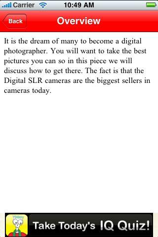 iGuides - Become a Digital SLR Pro screenshot #3