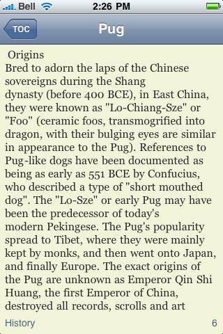 The Pug Book screenshot #3