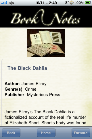 Book Notes - The Black Dahlia screenshot #3