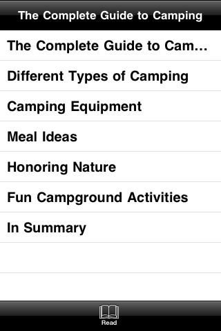 The Complete Guide to Camping screenshot #3