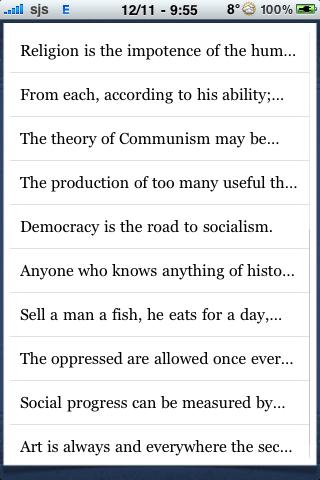 Karl Marx Quotes screenshot #2
