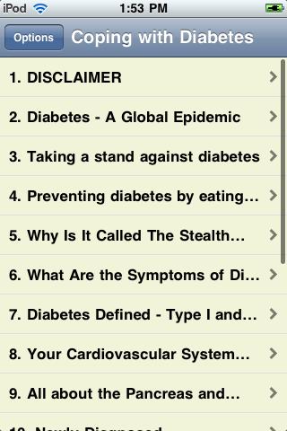 Coping with Diabetes screenshot #2