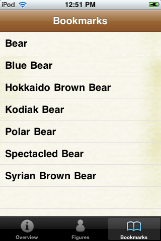 Bear Species Pocket Book screenshot #4