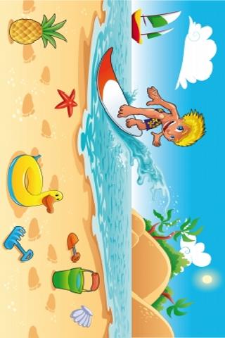 Surfer Slide Puzzle screenshot #1