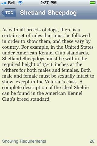 The Shetland Sheepdog Terrier Book screenshot #2