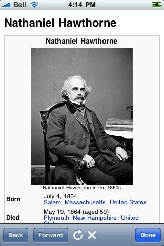 Nathaniel Hawthorne Quotes screenshot #1