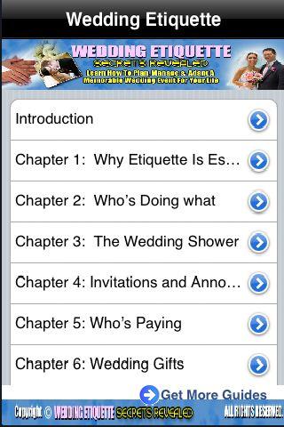 iGuides - Wedding Etiquette screenshot #1