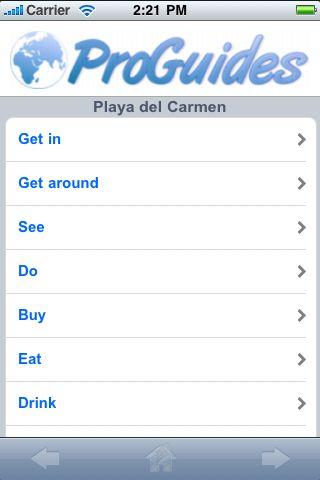 ProGuides - Playa del Carmen screenshot #1