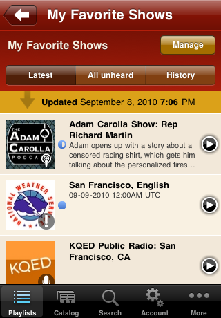 Podcasts - AudioPress Player screenshot #3